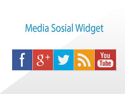 Sosial media  widget blogger