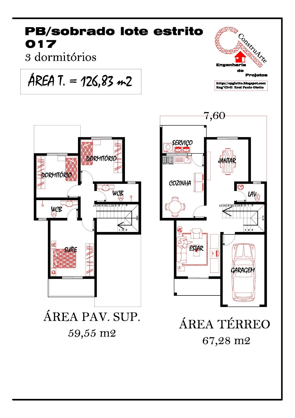 de Planta Baixa Modelos de Sobrados Planta de casa projeto #B81413 1131 1600