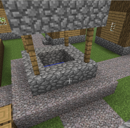 how to make cobble fence minecraft
