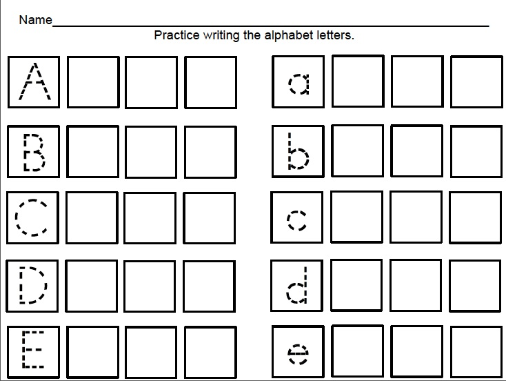 Handwriting Kindergarten Scalien – Writing for Kindergarten Worksheets
