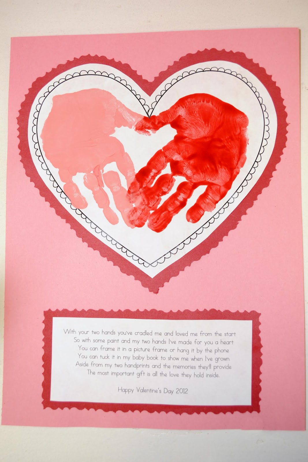 Kids Valentine's Day Handprint Poem