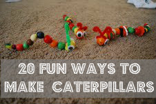 kids activities including making caterpillars