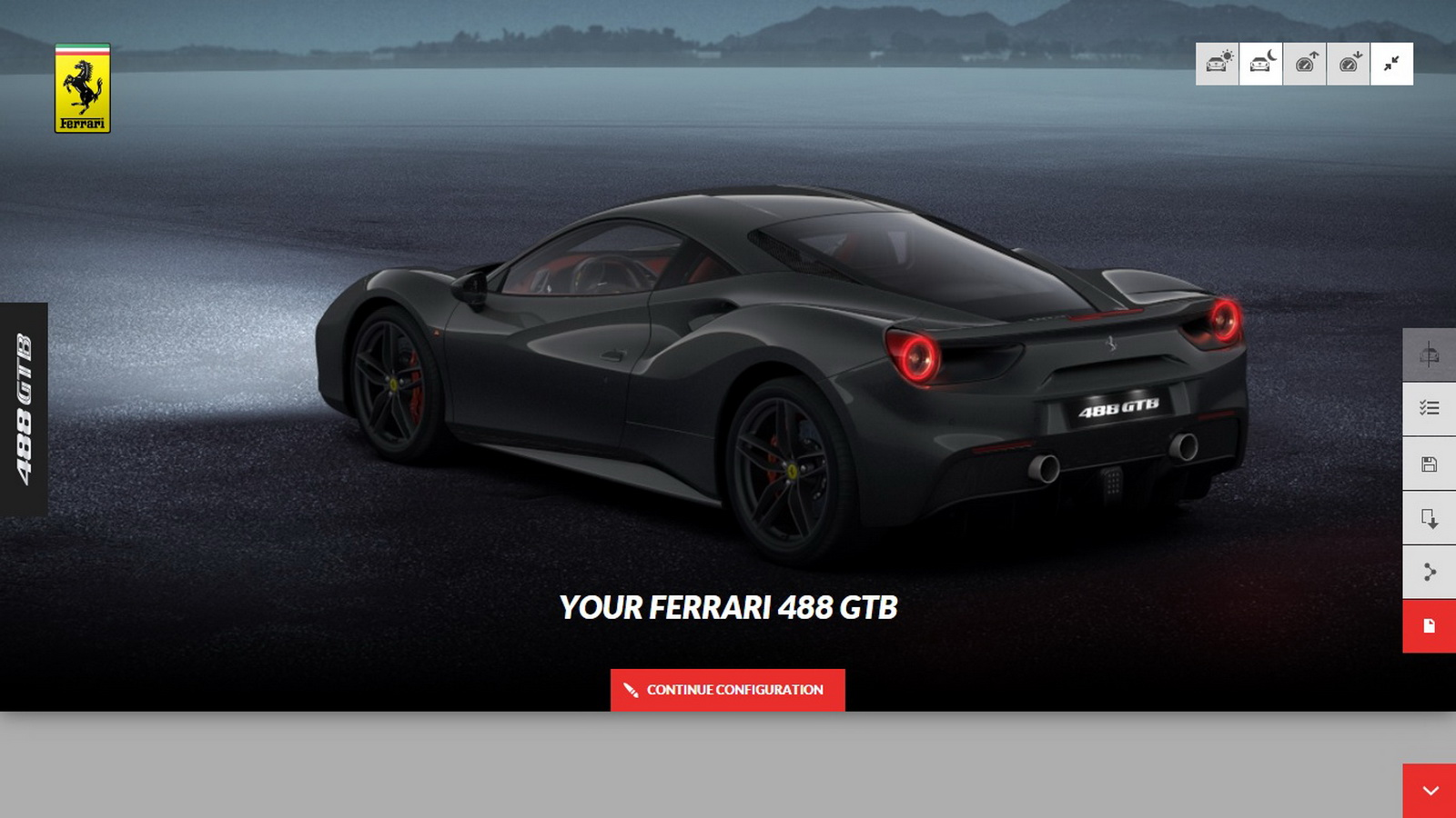 you can now build your own 488gtb on ferrari's configurator