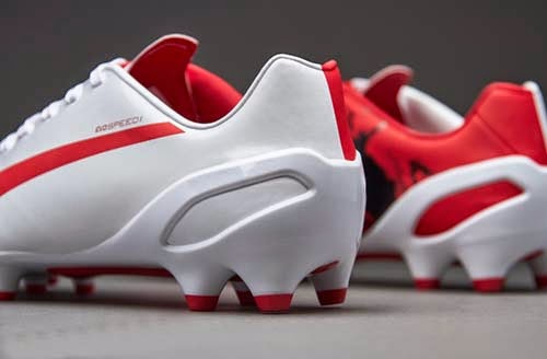 Limited Edition Puma evoSPEED Kun FG with White and Red Colors
