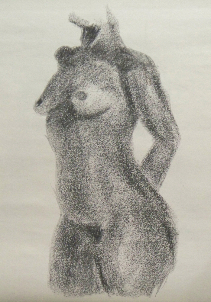 140922 - Day 21a - 30 in 30 Challenge - Charcoal on newsprint -  Dave Casey - TheDailyPainter.jpg