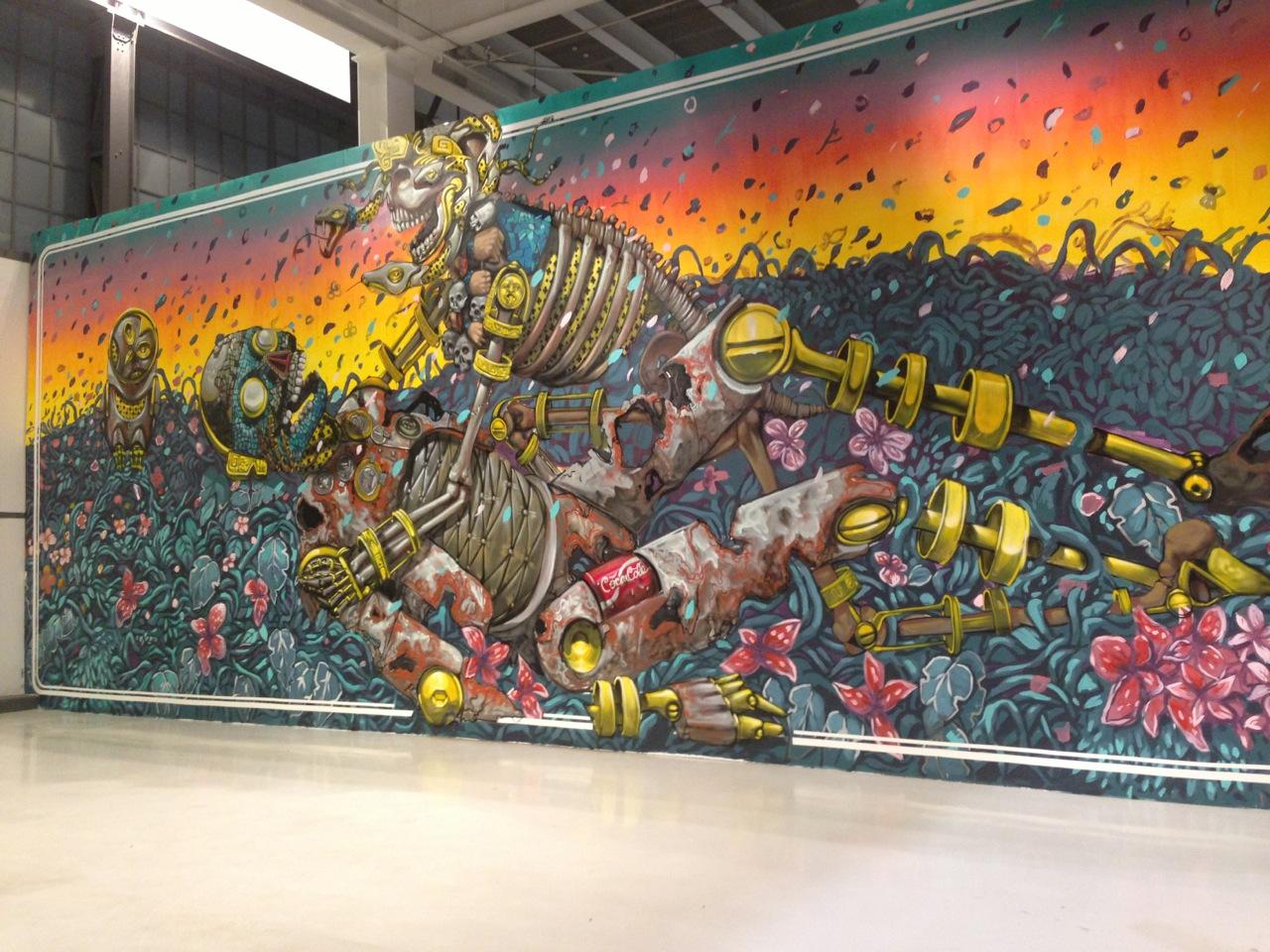 pixel pancho new mural in mexico city mexico streetartnews streetartnews