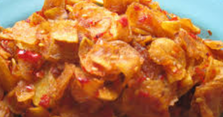 resep keripik kentang pedes