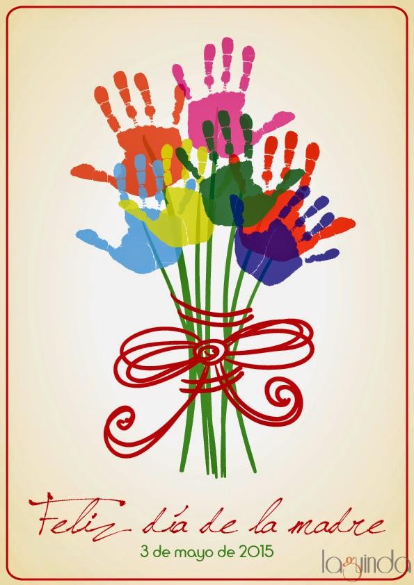 plantilla regalo flores día de la madre