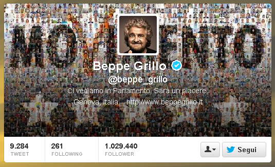 beppe grillo twitter followers