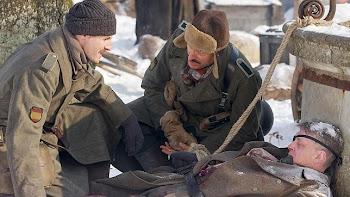 Un momento del rodaje de «Silencio en la nieve»