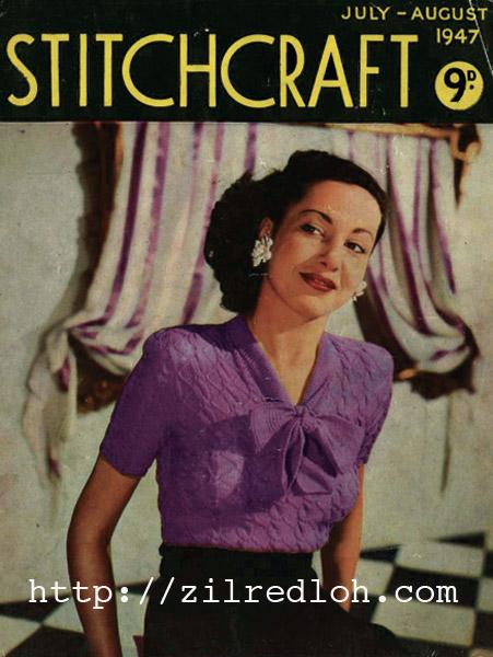 Free Zig Zag Jumper & Cardigan 1947 July-August edition of Stitchcraft