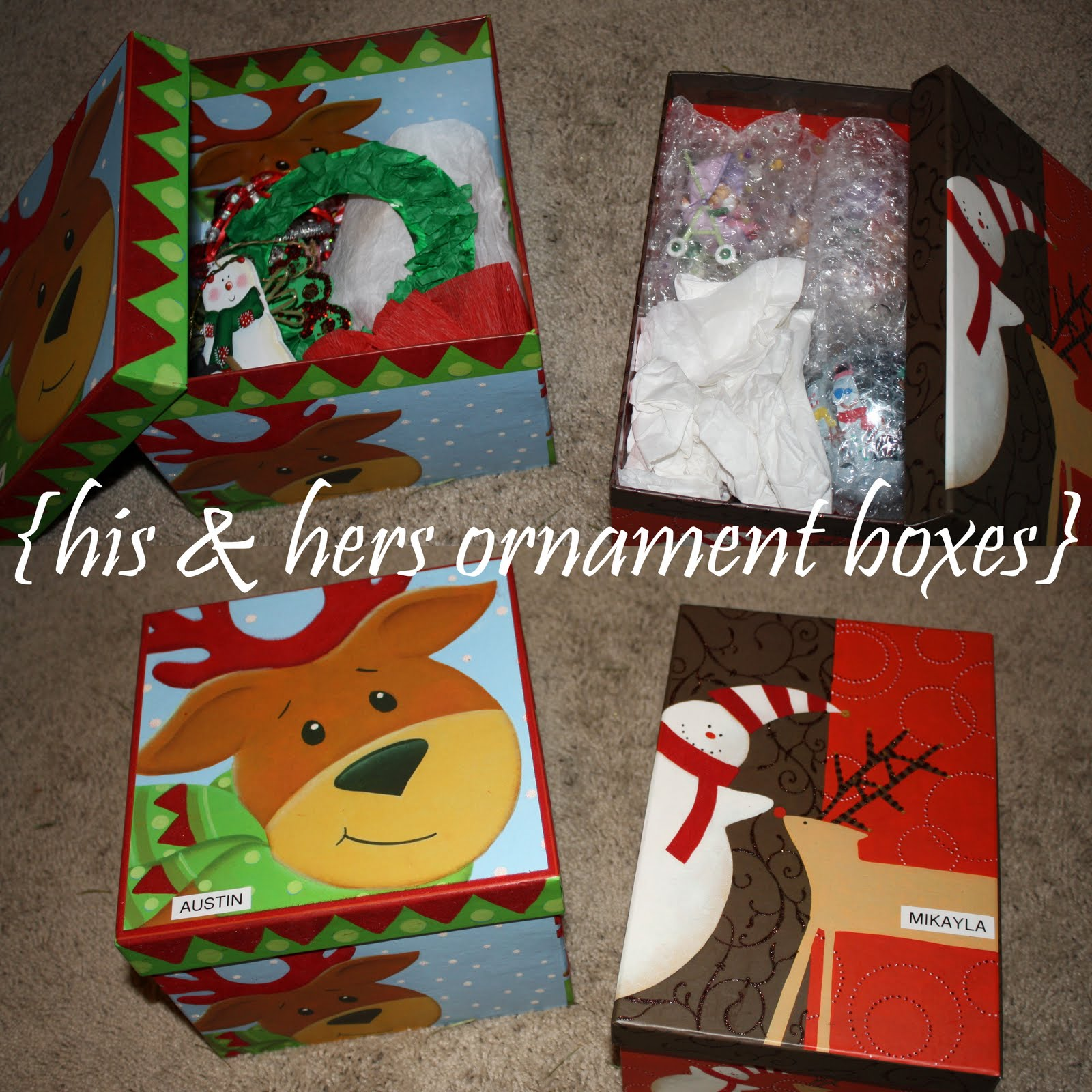 Individual ornament boxes - Our Misc Family And Snowflake Ornaments Get Stored Away In This Nifty Little Container That Locks Together But There Are Individual Trays