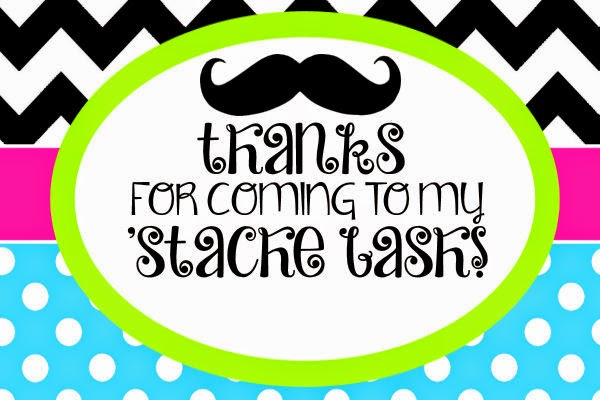 Mustache Birthday Party Free Printables