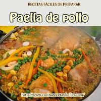 Recetas de pollo, azafrán, calamares, caldo, camarones, cebolla, chorizo, cúrcuma, mejillones, pimiento,