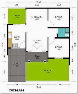 Denah Rumah Minimalis Ukuran 7 X 10   Desain  Interior  Model