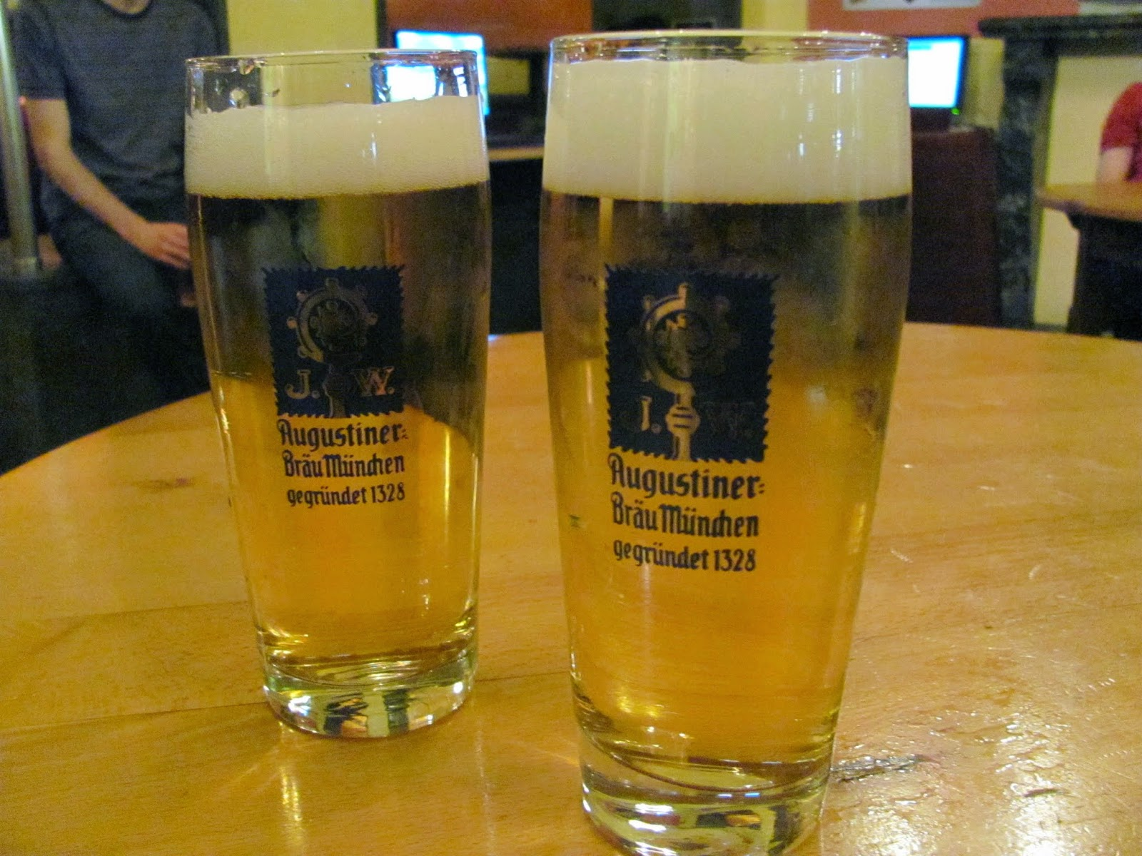 First Augustiner Pints Munich Germany