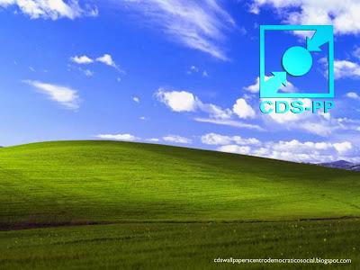 Papel de parede do Partido Centro Democrático Social emblema Stencil frontal do CDS-PP para utilizar como fundo de tela do seu ambiente de trabalho