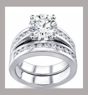 Argollas de matrimonio de oro blanco