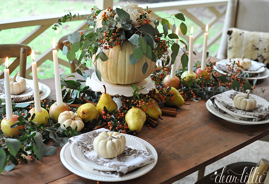 Dear Lillie: An Easy and Inexpensive Autumn Table Setting with a ...