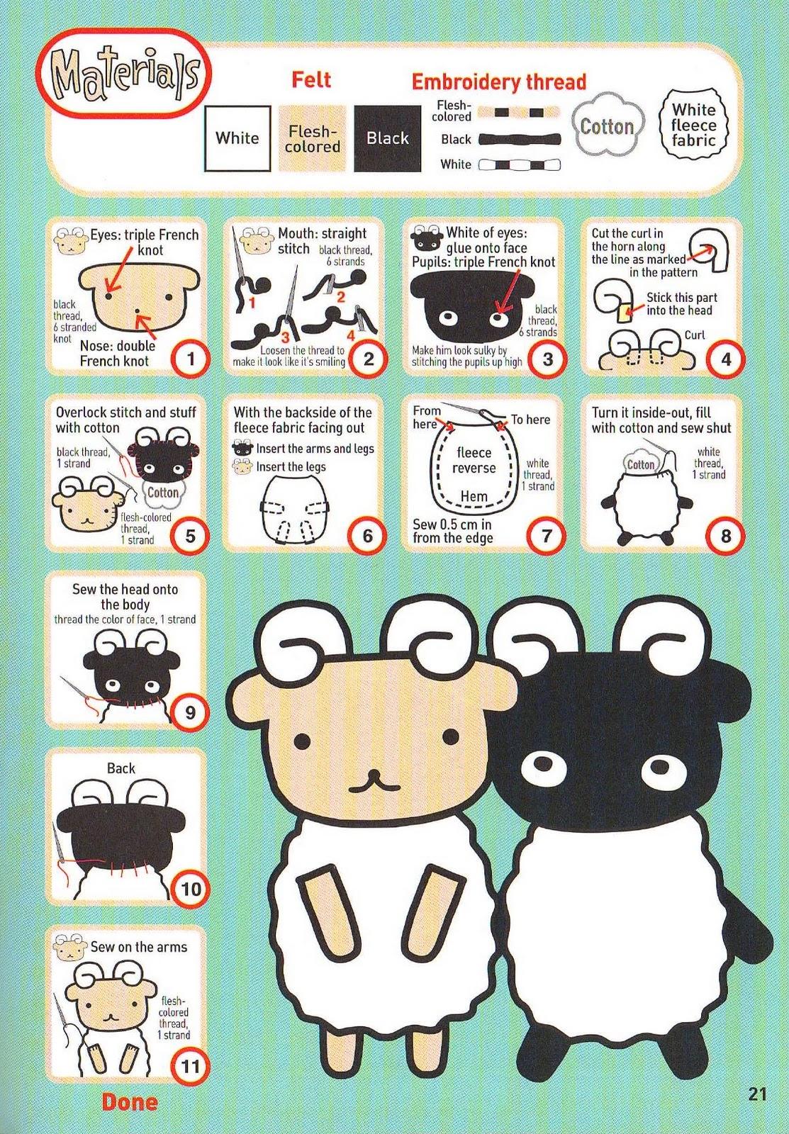 confeccionar estas cute ovejitas ya me contaran, besos a todas