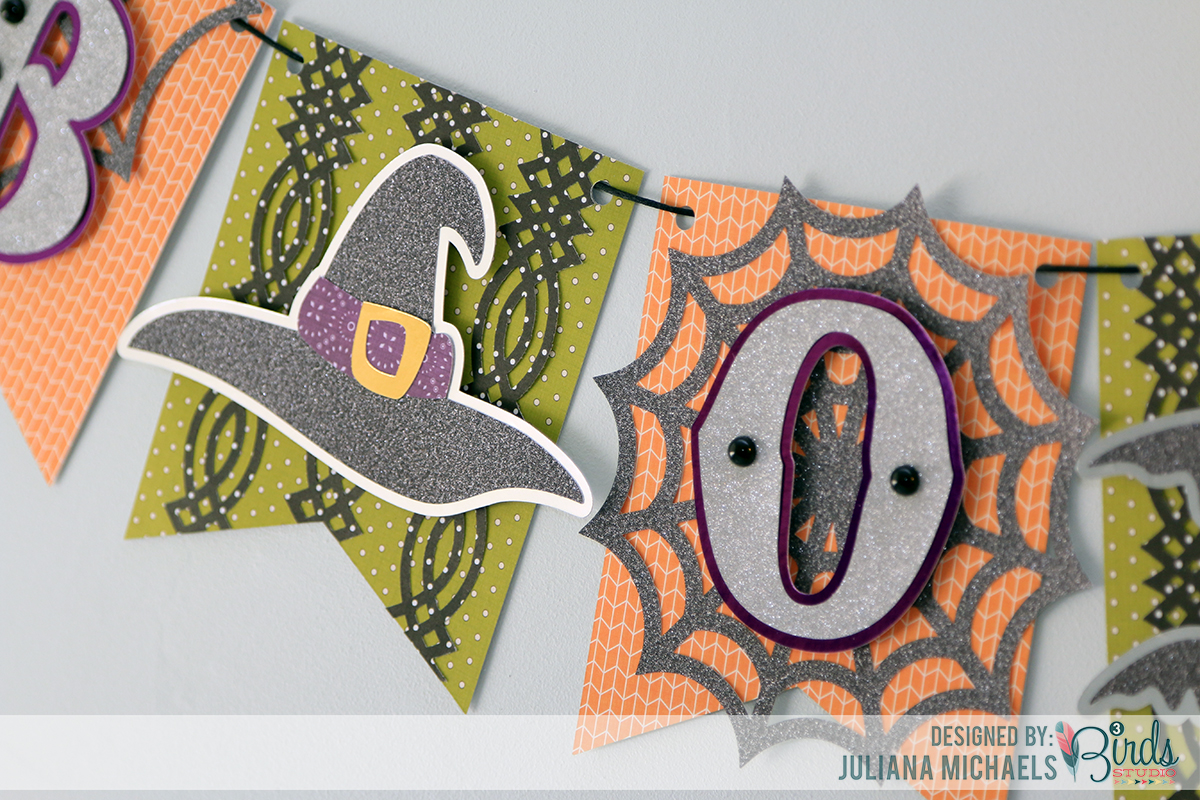 Halloween Boo Banner by Juliana Michaels for 3 Birds Design