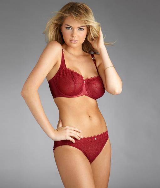 Kate Upton Stunning Eyes Wearing Red Panties and Bra UHQ