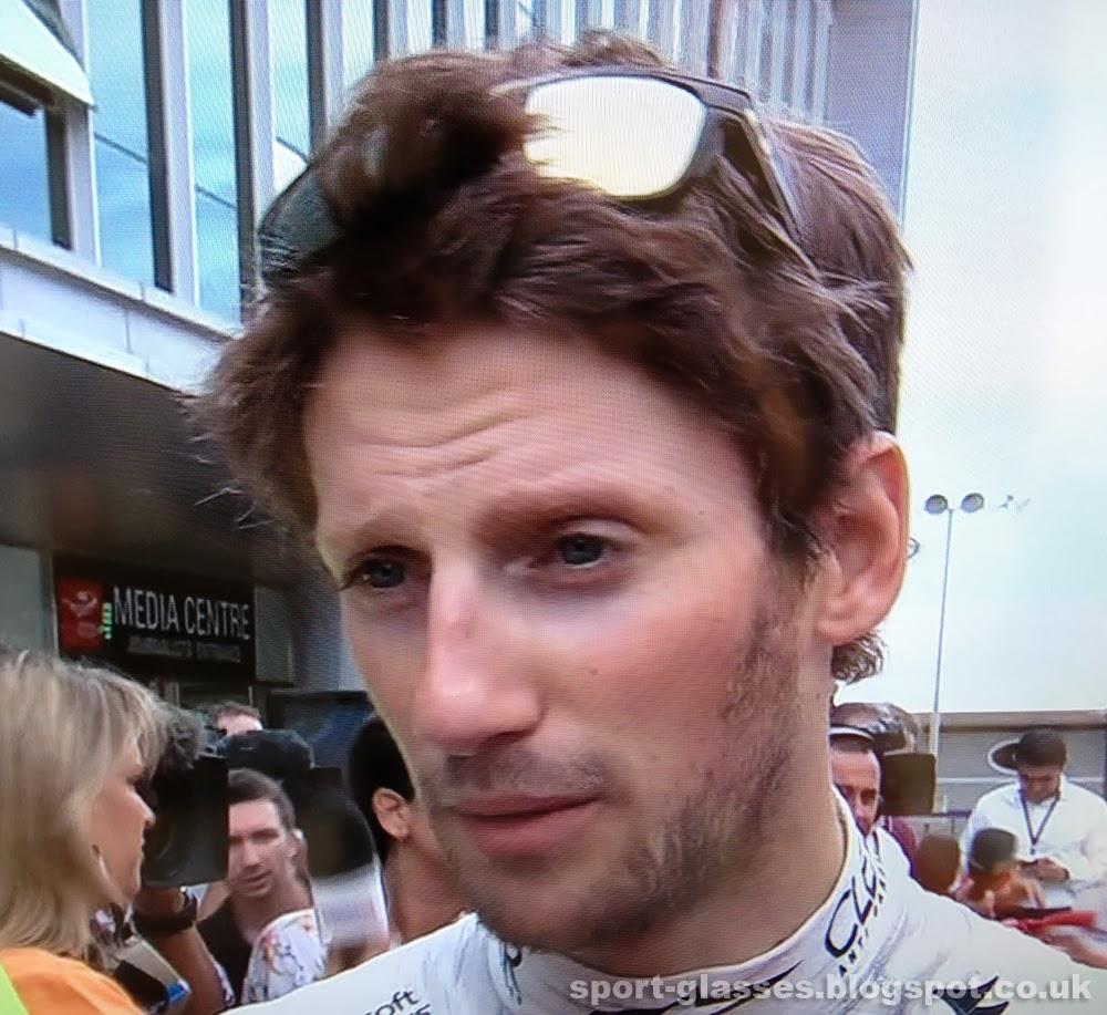 F1 driver Romain Grosjean wears Oakley Breadbox Sunglasses at 2013 Korean GP