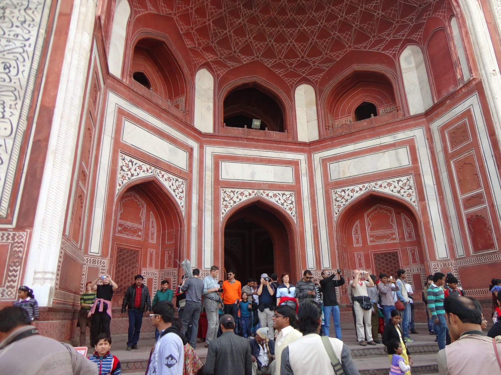 Inside The main gate of The Taj Mahal