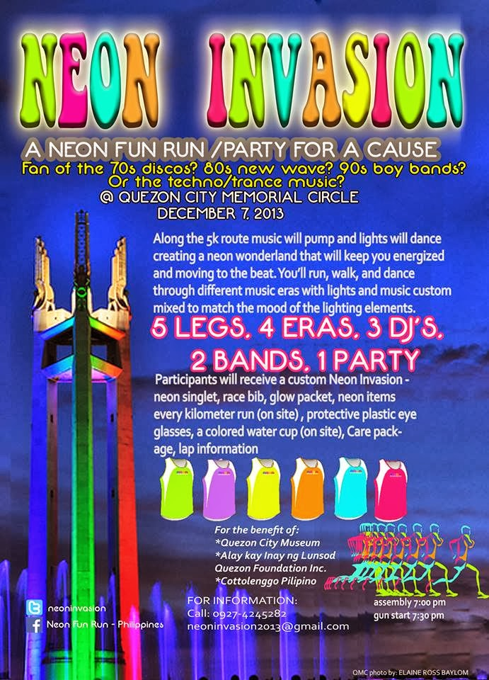 Let's be a part of Neon fun run – New Wave Party for a Cause! ♥