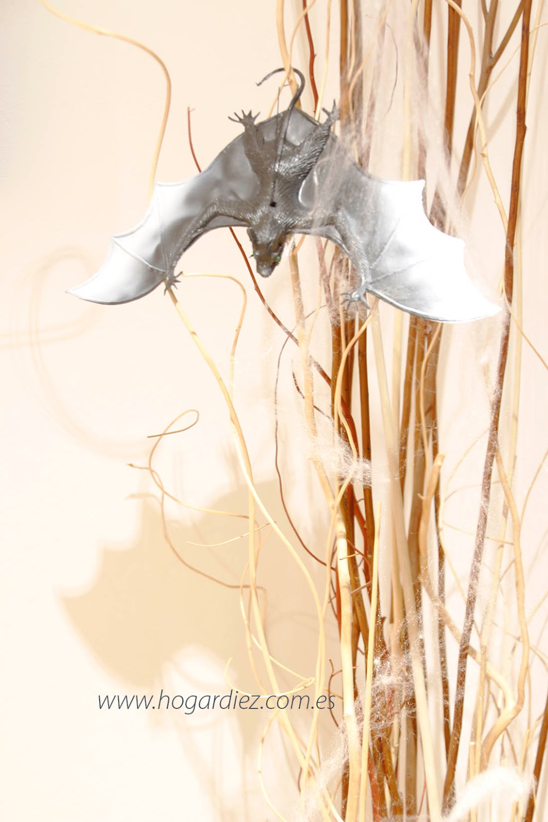 Halloween murciélago tela de araña