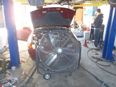 Large cooling fan for Intercooler Radiator while Tuning the Engine
