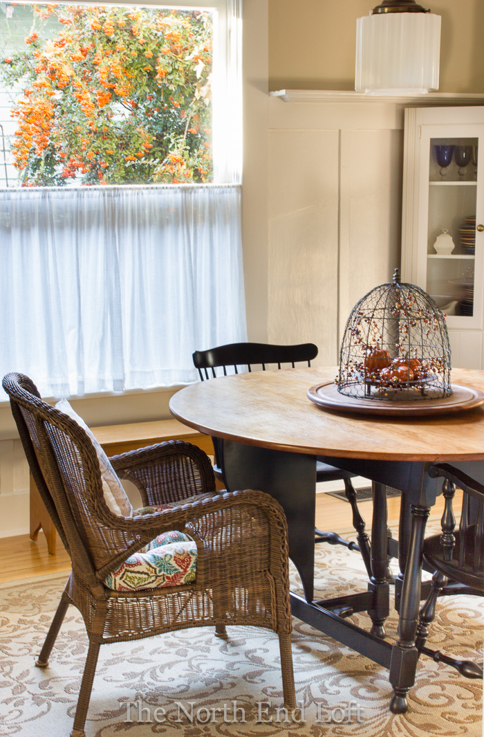 When The Kids Come Over We Add More Chairs And Leaves To The Table (which  Seats Up To Ten), As Needed. The Black Windsor Arm Chairs Are Comfortable  And ...
