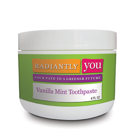 Vanilla Mint Toothpaste by Radiantly You