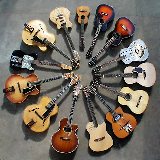 guitars in a circle