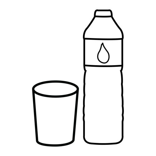 Botella De Agua Menta Más Choc...