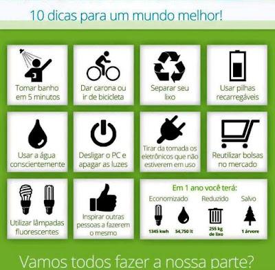 10 dicas para um mundo melhor!
