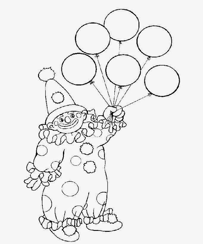scary clown coloring pages printable