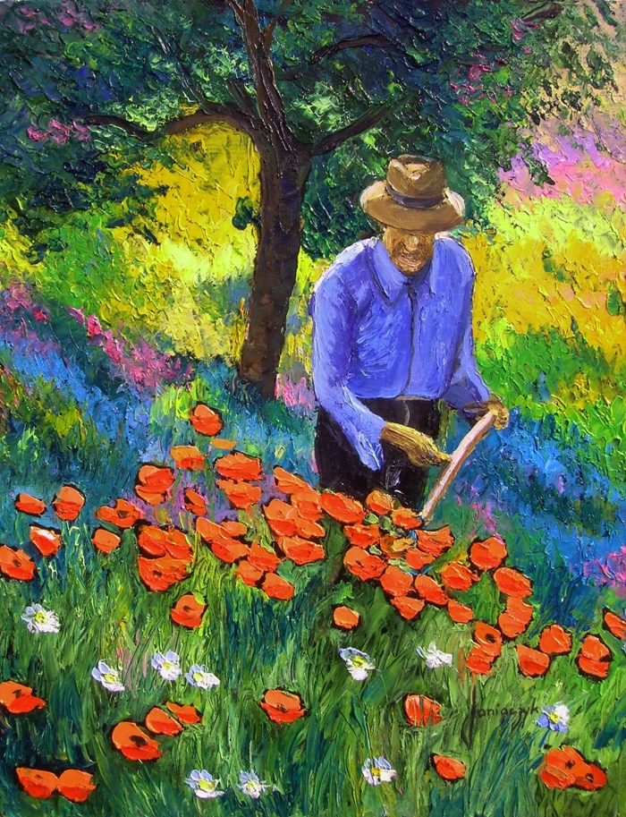 Jean Marc Janiaczyk 1966 | French Realist/Impressionist Knife painter | Dreaming of Provence