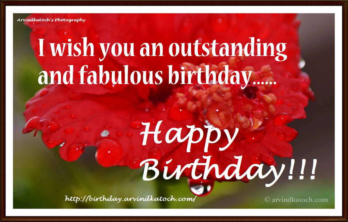 outstanding, fabulous, birthday card, HD card, Happy Birthday card,