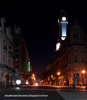 Downtown iluminado