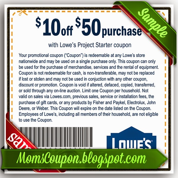 Great Deals Using Free Printable Lowes Coupons | Free Printable Coupons 2015