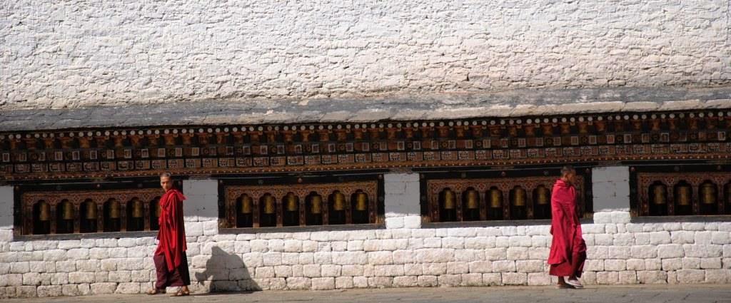 monks in Tashicchodzong,Thimphu