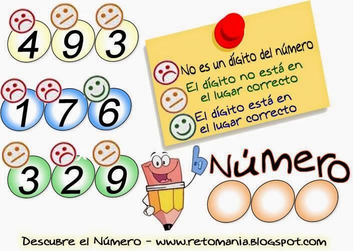 Piensa Rápido, Sólo para Genios, Los números que faltan, Desafíos matemáticos, Retos matemáticos, Problemas matemáticos, Problemas para pensar, Problemas con solución, Picas y Fijas, Descubre el Número