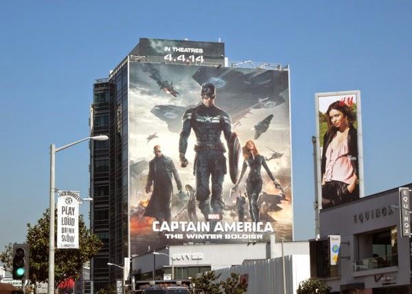 Captain America Winter Soldier movie billboard
