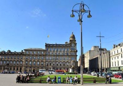 The magnificent George Square in Glasgow