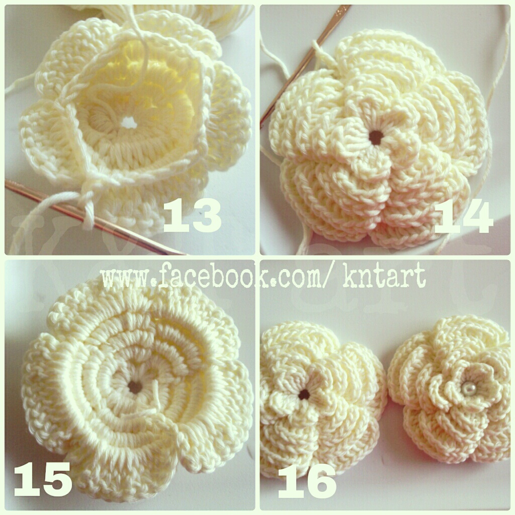 Small Rose Flower Crochet Pattern :