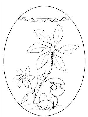 FISE cu OUA de PASTE de colorat pentru copiii de gradinita