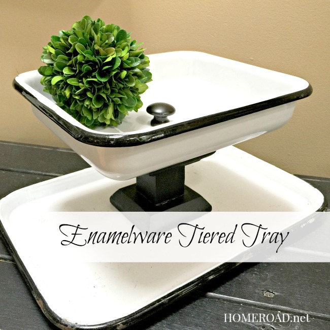 Enamelware Rectangular Tiered Tray www.homeroad.net