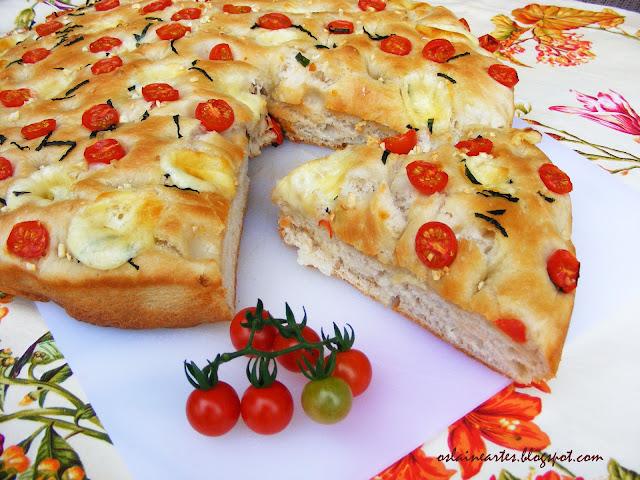 Focaccia com Tomate Cereja