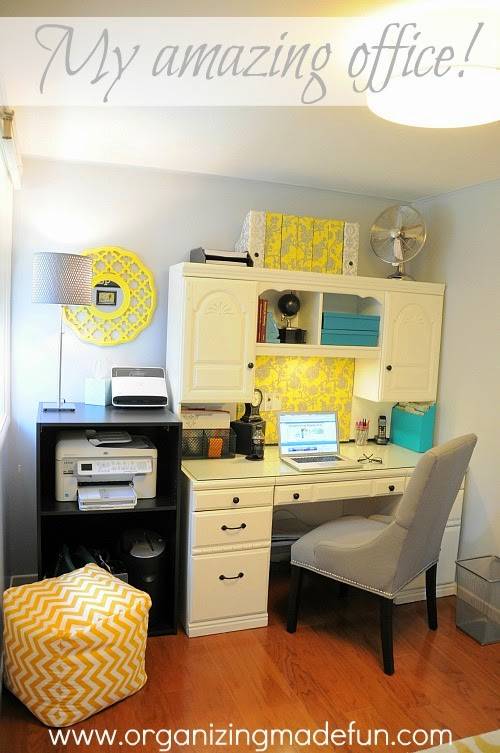 My home office the fabulous reveal organizing made fun Home office organization ideas
